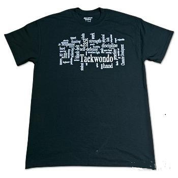 TKD Terminology Tee Shirt - Black