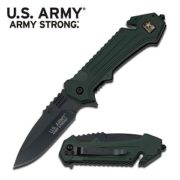 ASrmy Strong G-10 Handle Green