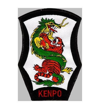 "Kenpo Karate Tiger /& Dragon Shield Patch 3/"" x 4/"" Iron On Sew On New"