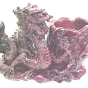 Dragon with Cup Deep Red-A6435