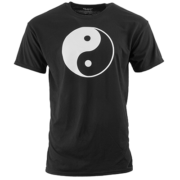 Japanese Chinese Yin Yang Sign Samurai Karate Martial Arts Kung Fu Retro T Shirt
