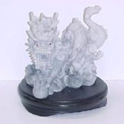 Faux Marble Stoneware Dragon-P28ws
