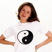 Yin & Yang White Shirt  Medium