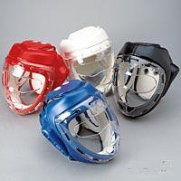P/F Headguard w/Mask-White size medium