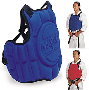 Macho Adult Chest Guard Red