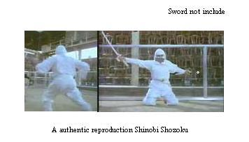 White Ninja Uniform size Small