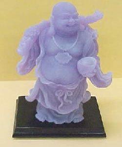 8 inch Lavender Glow Buddha-ZY1019B