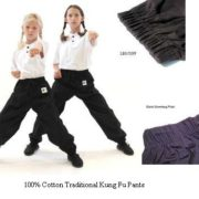 100% cotton BLACK pants Child Small