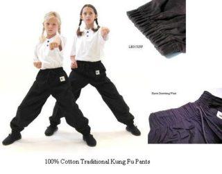 100% cotton BLACK pants Child Small