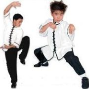 Interloop Kung Fu Top-White w/Black Trim