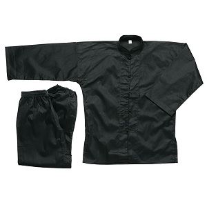 Traditional Kung Fu Uniform All Black - 100% Cotton
