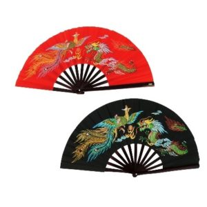 Dragon & Phoneix Bamboo Kung Fu Fighting Fan