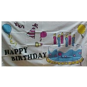 Party Time Happy Birthday Flag