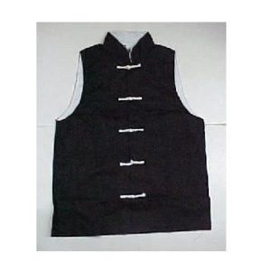 Sleeveless Kung Fu Jacket Top Black