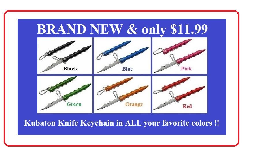 Kubaton Key Keychains
