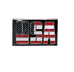 USA Letters Pin