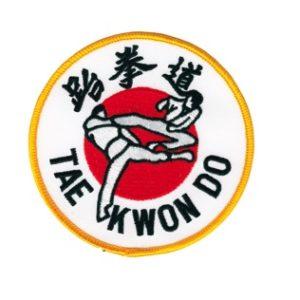 Taekwondo Flying Kick Patch