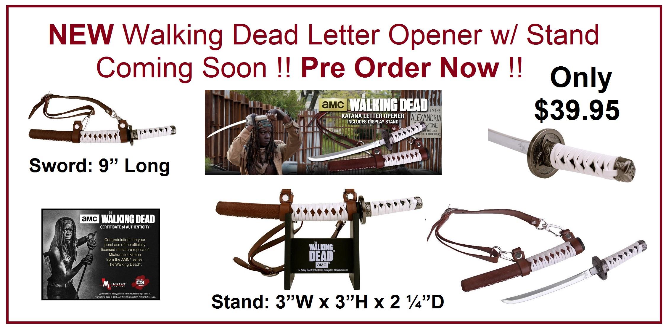 NEW WALKING DEAD LETTER OPENER