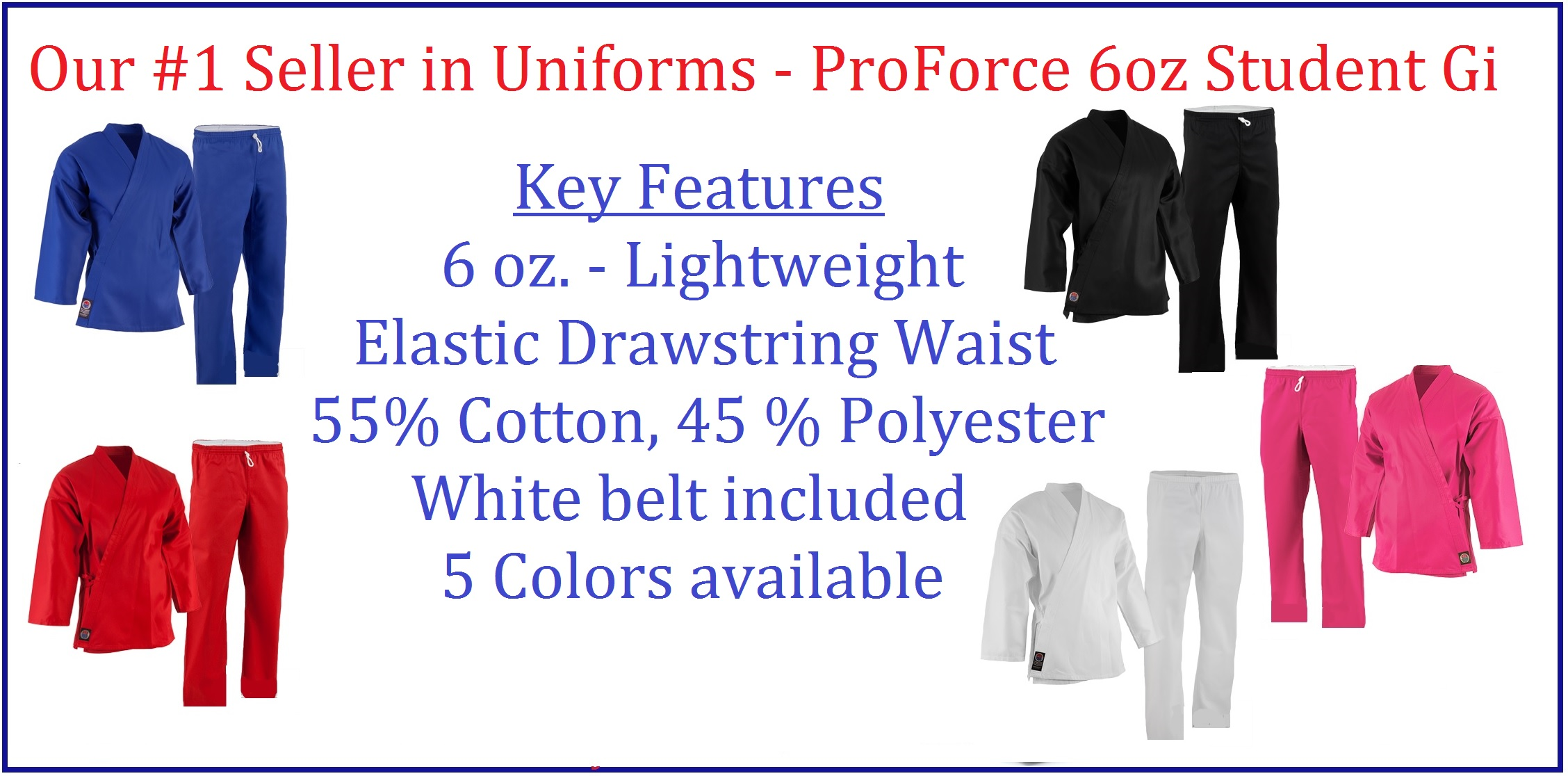 6 oz Lightweight Uniforms