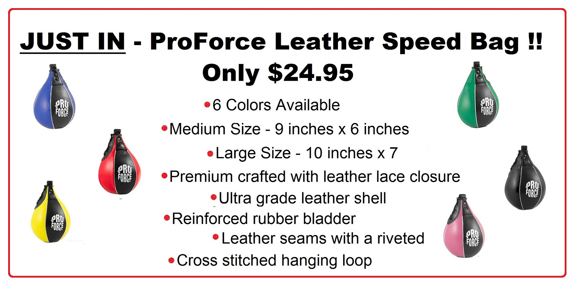 ProForce Leather Speed Bag