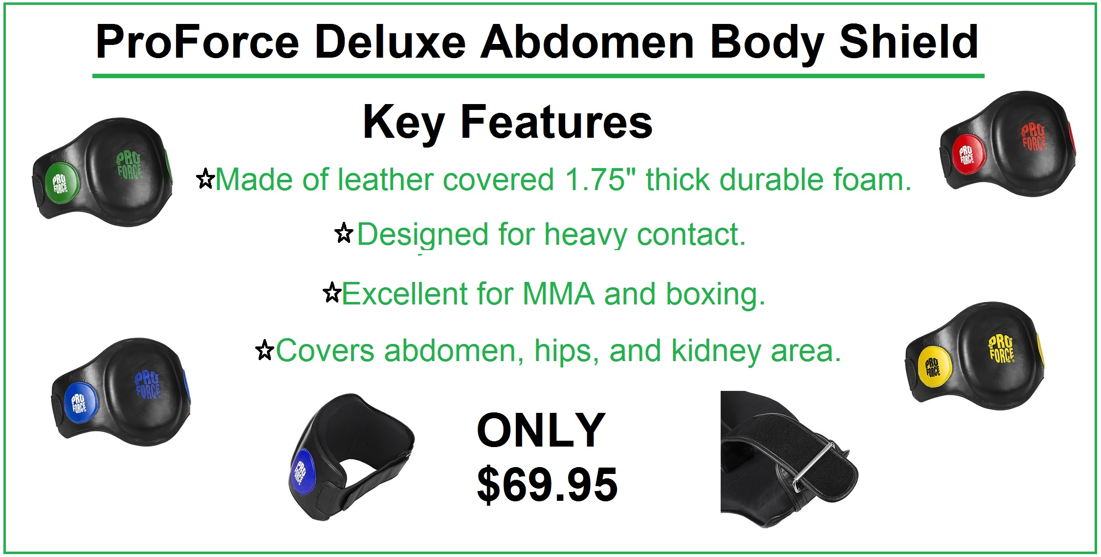 ProForce Deluxe Abdomen Body Shield