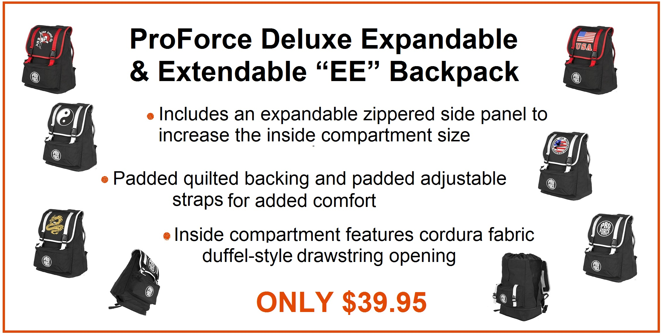 Expandable and Extendable backpack